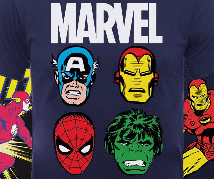New Marvel and DC Comics Kids T-Shirts are perfect for your little Superheroes!