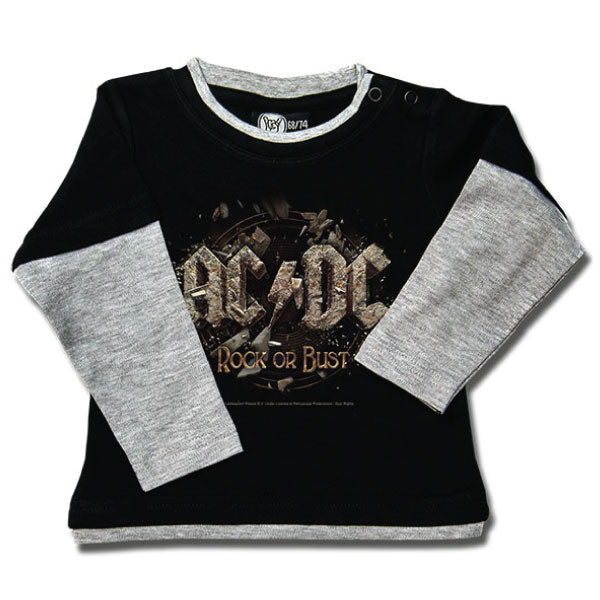 AC/DC Baby Long Sleeved T-Shirt - Rock or Bust