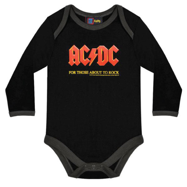 AC/DC Black Babygrow - For Those About To Rock
