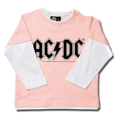 AC/DC Kids Pink Long Sleeved T-Shirt - Classic Logo