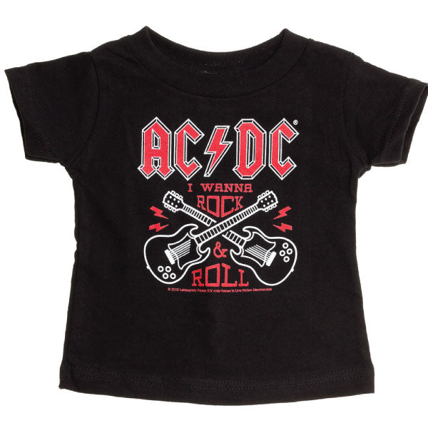 AC/DC Kids T-Shirt - I Wanna Rock and Roll