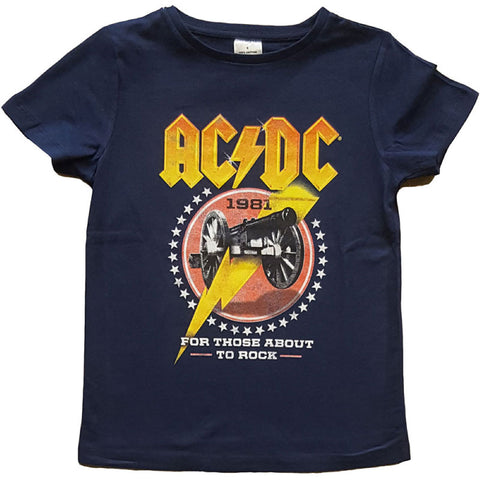 AC/DC Kids T-Shirt - For Those About To Rock Artwork 1981