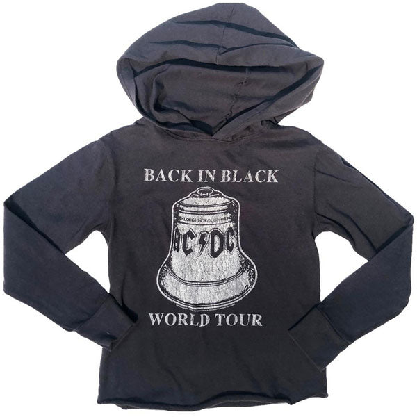 AC/DC Kids Hoody - Back In Black World Tour