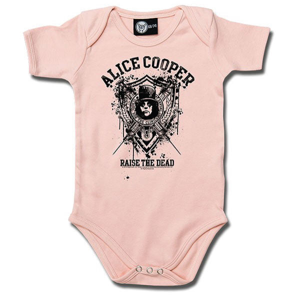 Alice Cooper - Raise The Dead Babygrow - Pink