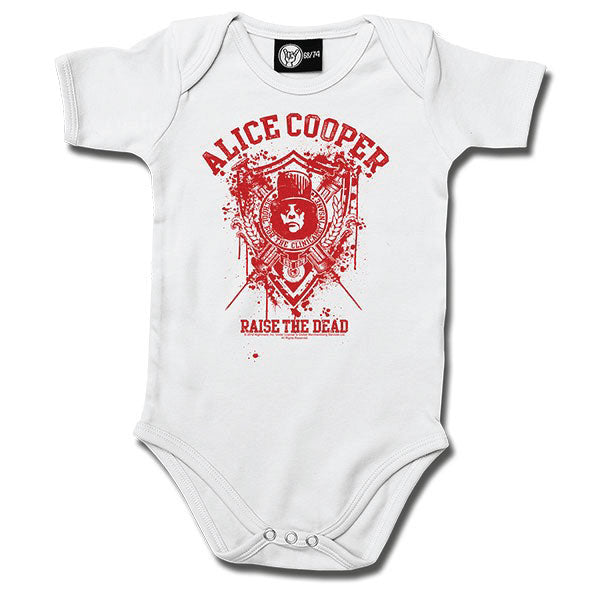Alice Cooper - Raise The Dead Babygrow - White/Red