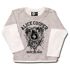 Alice Cooper Raise The Dead Baby Long Sleeve T-Shirt - Grey/Black