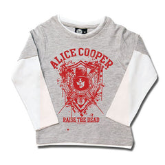 Alice Cooper Raise The Dead Kids Long Sleeve T-Shirt - Grey/Red