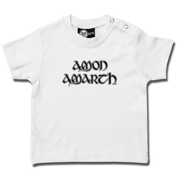 Amon Amarth White Baby T-Shirt - Logo