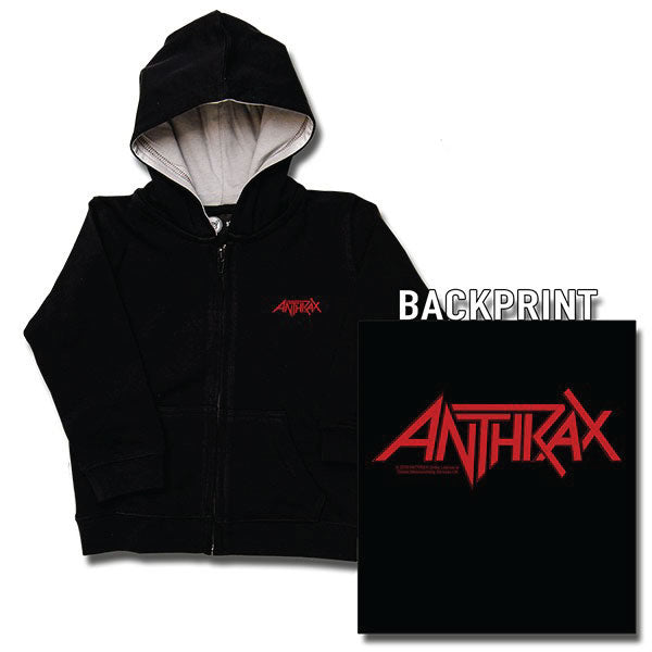Anthrax Kids Black Hoody - Red Logo