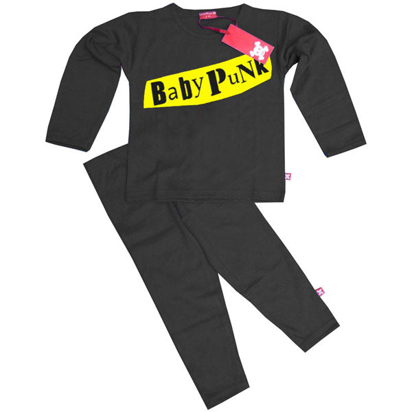 Baby Punk Kids Pyjamas - Black