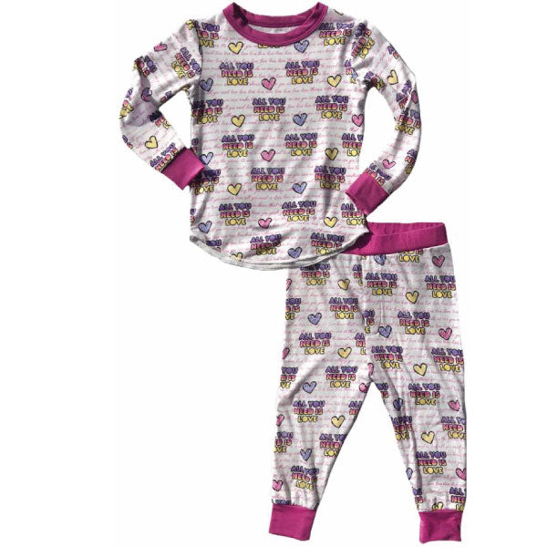 Beatles Kids Thermal Pyjamas - All You Need Is Love