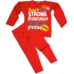 Brave, Bold, Strong, Adventurous Kids Pyjamas