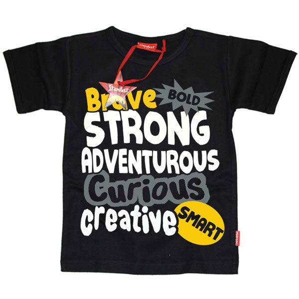 Brave, Bold, Strong, Adventurous Kids T-Shirt