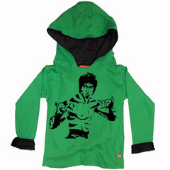 Bruce Lee Kung Fu Kids Hoody by Stardust