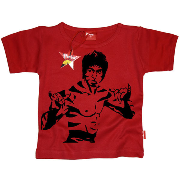 Bruce Lee Kids T-Shirt by Stardust - Bruce Lee Kung Fu Tiger Design