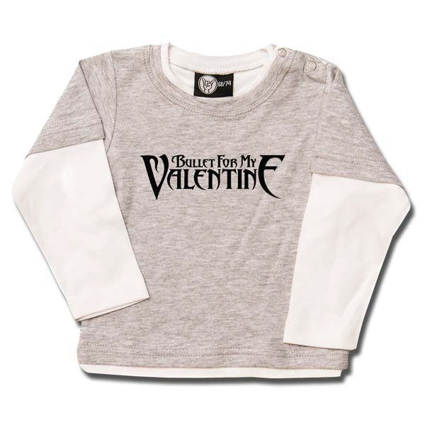 Bullet For My Valentine Baby Long Sleeve T-Shirt - Grey