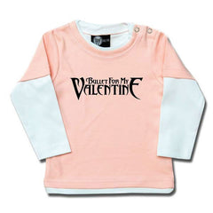 Bullet For My Valentine Long Sleeved Baby T-Shirt - Pink