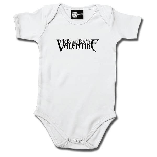Bullet For My Valentine Babygrow - White
