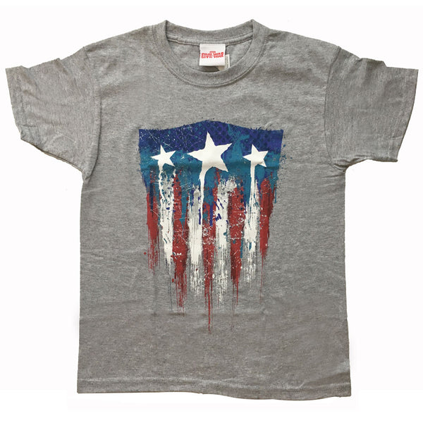 Captain America Kids T-Shirt - 75th Anniversary Grey