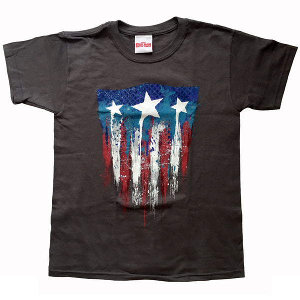Captain America Kids T-Shirt - 75th Anniversary Charcoal
