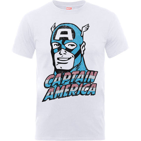 Captain America Kids T-Shirt - Distressed Head