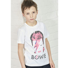 David Bowie Kids T-Shirt - Ziggy Stardust White
