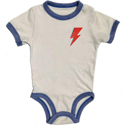 David Bowie Babygrow - Aladdin Sane Lightning Bolt by Rowdy Sprout