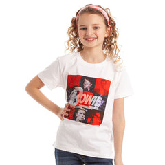 David Bowie Kids T-Shirt - White