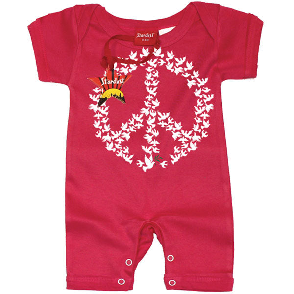 Doves of Peace Baby Romper by Stardust