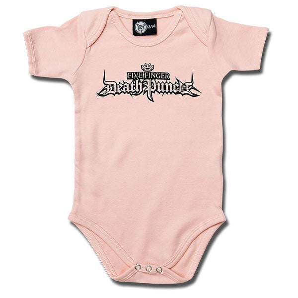 Five Finger Death Punch Babygrow Logo - Pink
