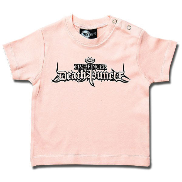 Five Finger Death Punch Logo Baby T-Shirt - Pink