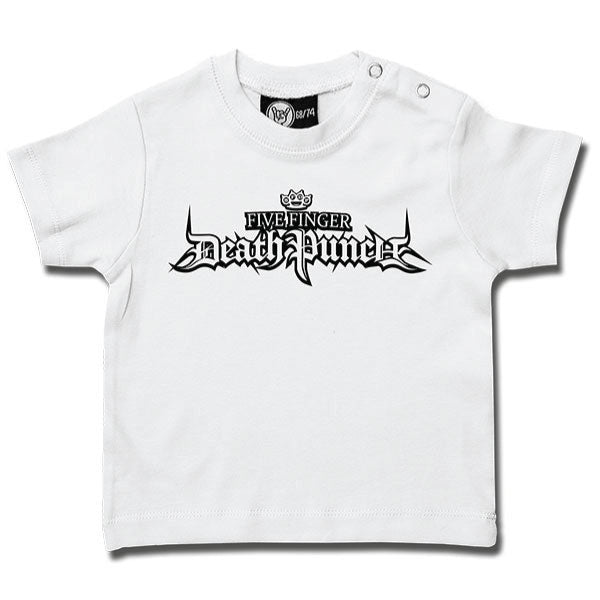 Five Finger Death Punch Logo Baby T-Shirt - White