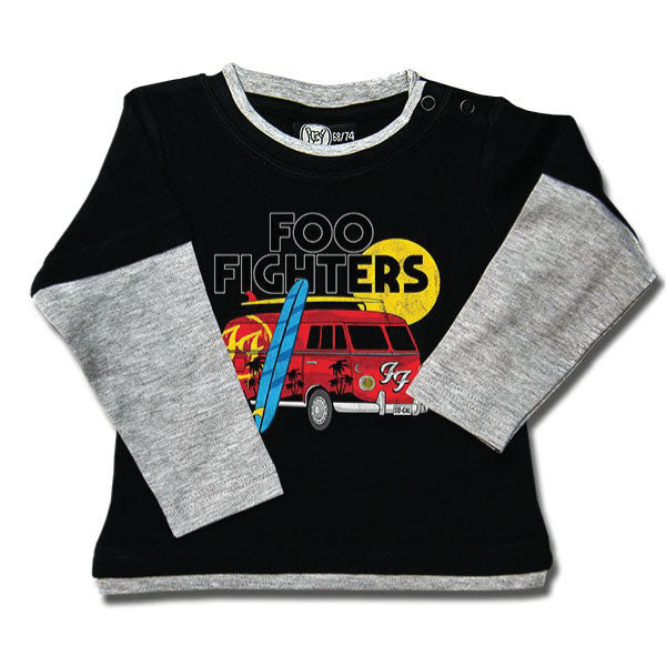 Foo Fighters Van Baby Long Sleeved T-Shirt - Black