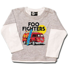 Foo Fighters Van Baby Long Sleeved T-Shirt - Grey