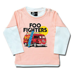 Foo Fighters Van Baby Long Sleeved T-Shirt - Pink