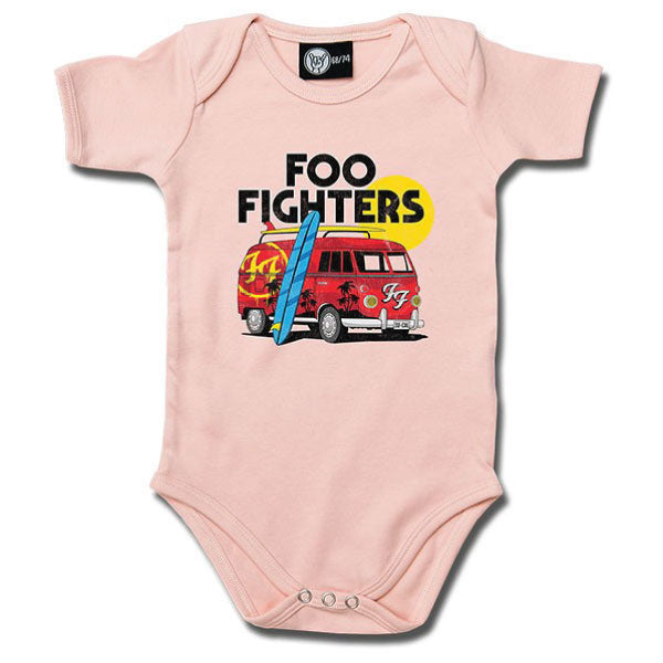 Foo Fighters Van Babygrow - Pink