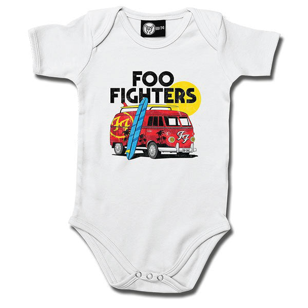 Foo Fighters Van Babygrow - White