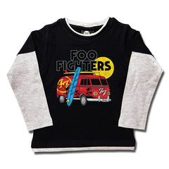 Foo Fighters Van Kids Long Sleeved T-Shirt - Black