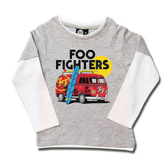 Foo Fighters Van Kids Long Sleeved T-Shirt - Grey