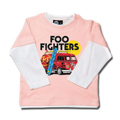 Foo Fighters Van Kids Long Sleeved T-Shirt - Pink