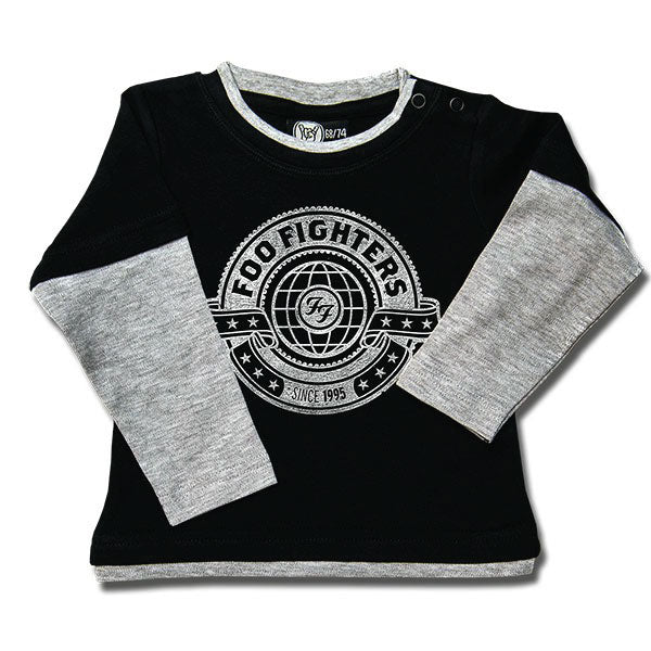 Foo Fighters World Baby Long Sleeved T-Shirt - Black