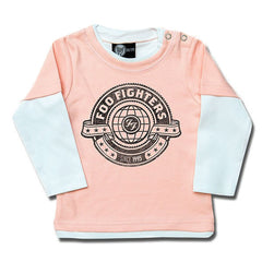 Foo Fighters World Baby Long Sleeved T-Shirt - Pink