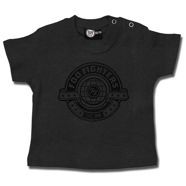 Foo Fighters World Baby T-Shirt - Grey