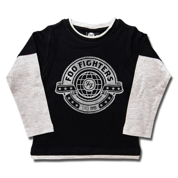 Foo Fighters World Kids Long Sleeved T-Shirt - Black