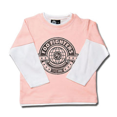 Foo Fighters World Kids Long Sleeved T-Shirt - Pink