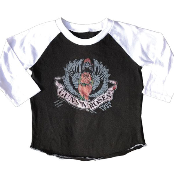 Guns 'N' Roses Girls Long Sleeve T-Shirt - 1991 Tour