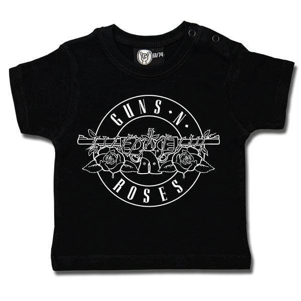 Guns 'N' Roses Baby T-Shirt Logo Outline - Black