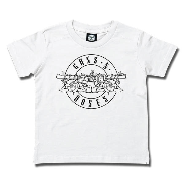 Guns 'n' Roses Kids T-Shirt Logo Outline - White