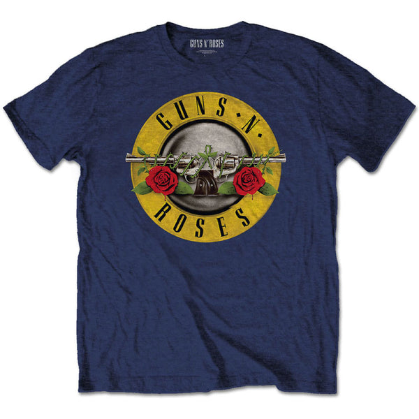 Guns 'n' Roses Kids Blue T-Shirt: Classic Guns N Roses Logo