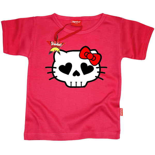 Hell Kitty Kids T-Shirt by Stardust